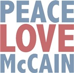 Peace Love John McCain T-shirts Gifts