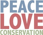 Peace Love Conservation T-shirts Gifts