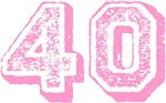 Pink 40 Years Old Birthday T-shirts Gifts