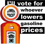Lower Gas Prices get my Vote T-shirts Gifts