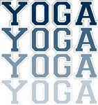 Yoga Blue Collegiate Letters T-shirts Gifts