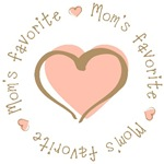 Mom's Favorite Girl Heart T-shirts Gifts 