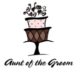 Aunt of the Groom Pink Cake T-shirts Gifts