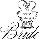 Elegant Bride Wedding Cake T-shirts Gifts