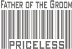 Father of the Groom Priceless Bar Code T-shirts Gi