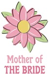 Mother of the Bride Pink Flower T-shirts Gifts