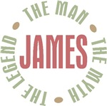 James the Man the Myth the Legend T-shirts Gifts