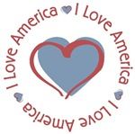 I Love Heart America T-shirts Gifts