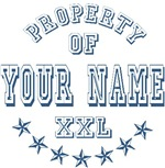 Property Of Your First Name Blue T-shirts Gifts