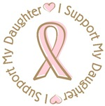 Breast Cancer Support Daughter T-shirts Gifts