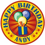 Happy Birthday Andy Personalized T-shirts Gifts