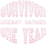 Breast Cancer Survivor One Year T-shirts Gifts