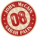John McCain Sarah Palin 08 T-shirts Gifts