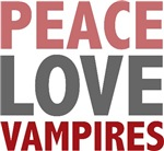Peace Love Vampires Twilight T-shirts Gifts