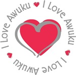 I Love Heart Awuku Personalized Tees Gifts