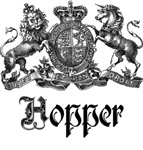 Hopper Vintage Family Name Crest Tees Gifts