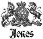 Jones Vintage Family Name Crest Tees Gifts