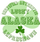 Authentic Lucky Alaska Leprechaun Tees Gifts