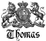 Thomas Vintage Family Name Crest Tees Gifts