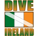 Dive Ireland Flag Tees Gifts
