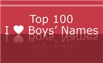 Top 100 I Heart Boys Names Tees Gifts