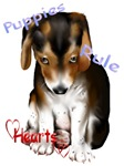 Puppies Rule Hearts
