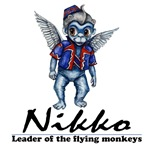 Nikko is the Leader of the Flying Monkeys in the Wonderful Wizard of Oz story.  This dangerously cute and devilishly evil Flying Monkey is ready for any mischief required by the Wicked Witch of the West.