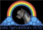 With all the colors of the rainbow, this Wonderful Wizard of Oz inspired design capturesToto Lions, Tigers and Bears Oh My.  The perfect gift for any Oz fan.