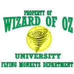 Property of Wizard of Oz University, Flying Monkeys Department.  Dean Nikko, leader of the flying monkeys will take you through your classes on how to be great henchmen and to do their bidding.