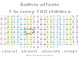AUTISM AFFECTS 1 IN EVERY 150 CHILDREN (HANDS)