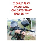 a funny paintball joke on gifts and t-shirts