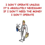 a funny doctor joke on gifts and t-shirts.