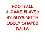 a funny football joke on gifts and t-shirts.