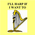 harp music gifts and t-shirts