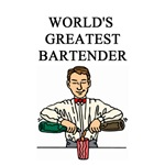 world's greatest bartender gifts t-shirts