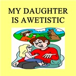 autistic daughter father gifts t-shirts