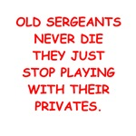 old sergeants gifts t-shirts