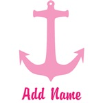 Pink Anchor Custom Name Shirts