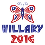 Stars and Stripes Butterfly Hillary 2016 Shirts