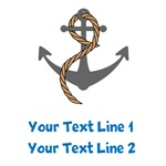 Custom Text Anchor Tee Shirts