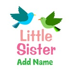Personalized Little Sister Gifts With Birds