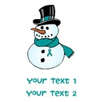 Personalized Ovarian Cancer Snowman Shirts