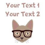 Personalized Cat With Glasses