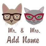 Personalized Feline Couple