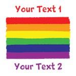 Custom Text Rainbow Pride Flag Shirts