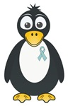 Light Blue Ribbon Penguin T-shirts