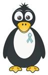Light Blue Ribbon Penguin T-shirts