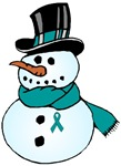 Christmas Snowman Ovarian Cancer Support Gifts