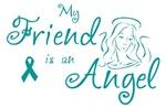 Ovarian Cancer Angel Friend T-shirts
