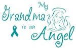 Ovarian Cancer Angel Grandma T-shirts